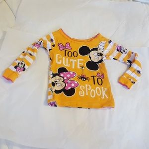 Sz 12M Disney Baby Too Cute To Spook Halloween Top